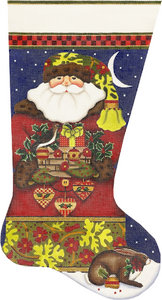 Forest Santa Stocking