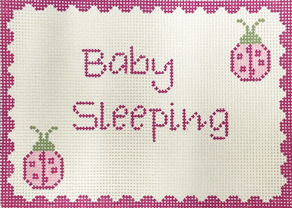 Ladybugs Baby Sleeping Sign