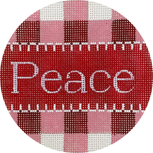 Peace Gingham Ornament