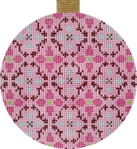 Pink Damask Ornament
