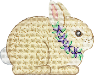 Tan Bunny with Flowers