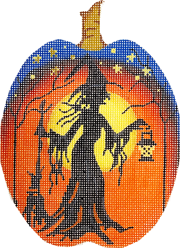 Witch Silhouette Pumpkin