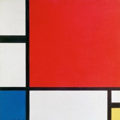 Composition II (1930) by Piet Mondrian
