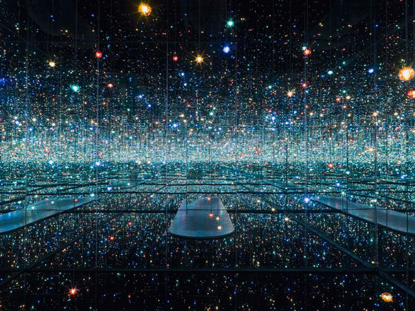 """Infinity Mirrored Room - The Souls of Millions of Light Years Away"" by Yayoi Kusama"