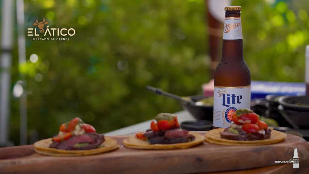 Tacos de Carne Asada - It's Miller Time!