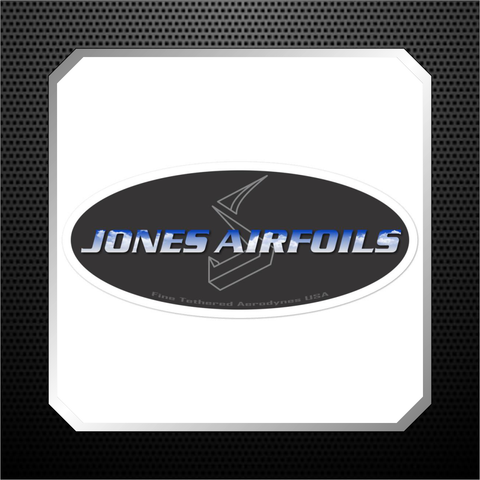 Jones Airfoils oval sticker