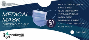 Medical Masks - AS Level 3 & ASTM Level 3 with LOOPS