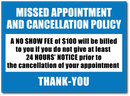 RAEDENE CANCELLATION POLICY DECAL