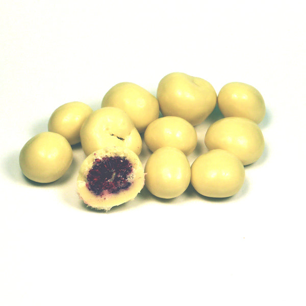 White Chocolate Raspberries