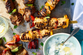 Chicken Kebabs in Ginger, Chilli & Lime Marinade