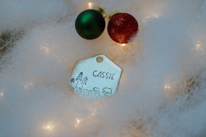 Winter Beary ID Tag