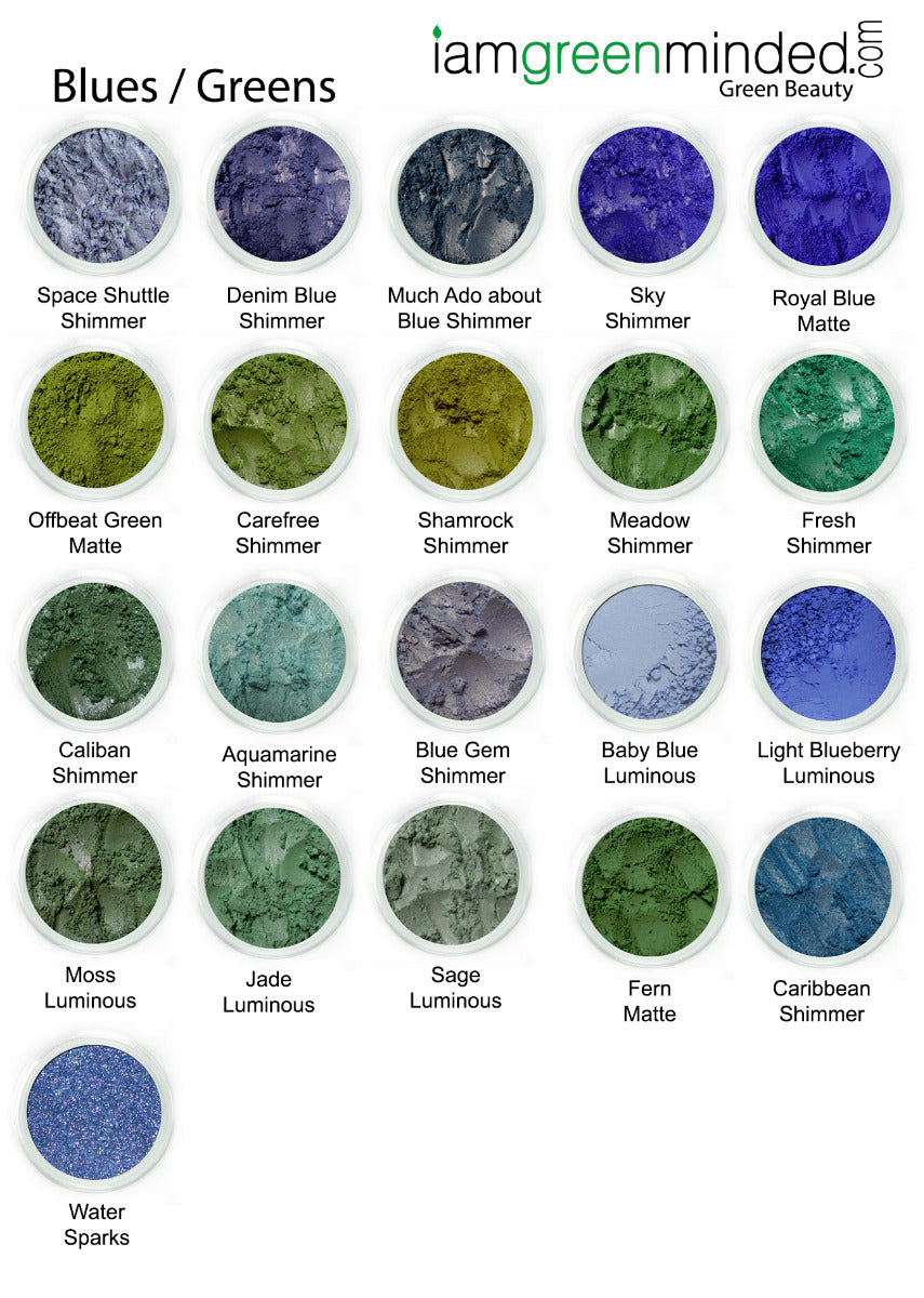 Eye Shadow | Blues Greens CLEARANCE