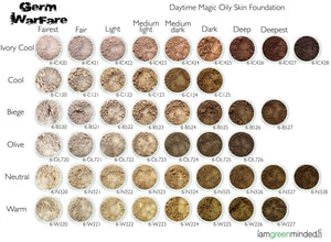 Daytime Magic oily skin mineral makeup shades