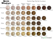 Load image into Gallery viewer,  Daytime Magic Oily Skin Foundation Shade Chart