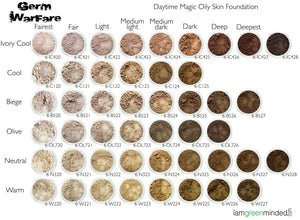 Daytime Magic Oily Skin Foundation Shade Chart
