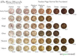 Flawless Makeup Foundation Shade Chart