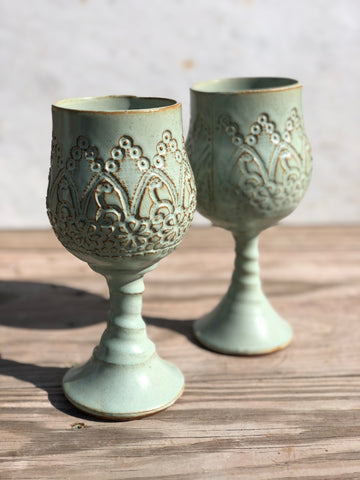 Lace Goblet Set