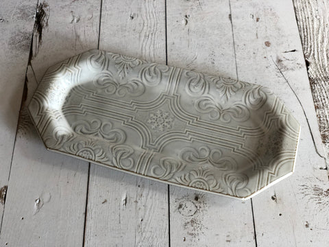 Gloss White Textured Tray