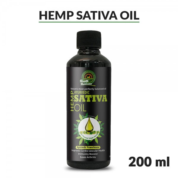 Ayurvedic Sativa Hemp Seed Oil 200ml - Hemp Horizons Pvt. Ltd - hempistani