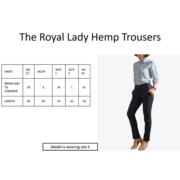 Foxxy's The Royal Lady Hemp Trousers - FOXXY COUTURE PRIVATE LIMITED - hempistani