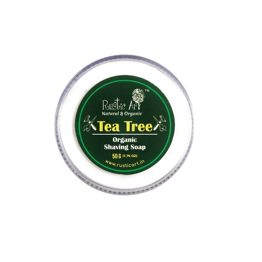 Rustic Art Tea Tree Shaving Soap - Rustic Art - hempistani