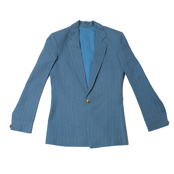 Foxxy's Powder Blue Hemp Jacket - FOXXY COUTURE PRIVATE LIMITED - hempistani
