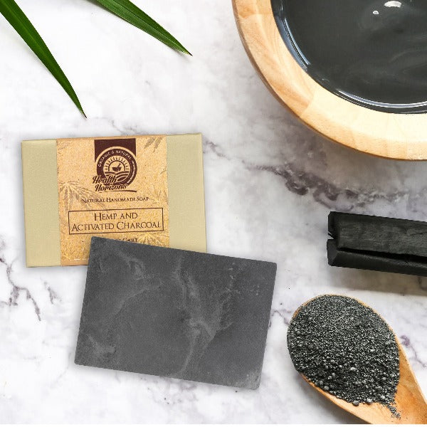 Health Horizon's Hemp and Activated Charcoal – Natural Handmade Soap - Hemp Horizons Pvt. Ltd - hempistani