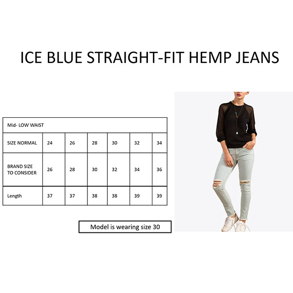 Foxxy's Straight fit Hemp Jeans - Ice Blue - FOXXY COUTURE PRIVATE LIMITED - hempistani
