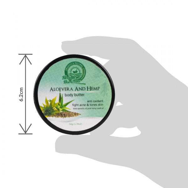 Health Horizon's Aloe Vera and Hemp Body Butter Cream - Hemp Horizons Pvt. Ltd - hempistani
