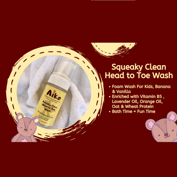 Amayra Naturals Aiko - Squeaky Clean Head to Toe Wash