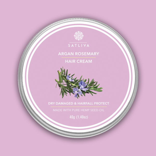 Satliva Argan Rosemary Hair Cream - 40gm - Satliva - hempistani