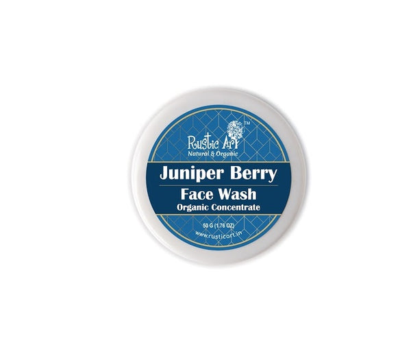 Rustic Art Organic Juniper Berry Face Wash Concentrate - Rustic Art - hempistani