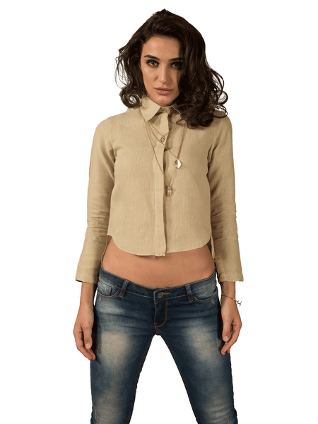 Foxxy's Dull Sap Hemp Shirt - FOXXY COUTURE PRIVATE LIMITED - hempistani