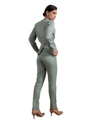 Foxxy's Fresh Mint Suede Hemp Trousers - FOXXY COUTURE PRIVATE LIMITED - hempistani