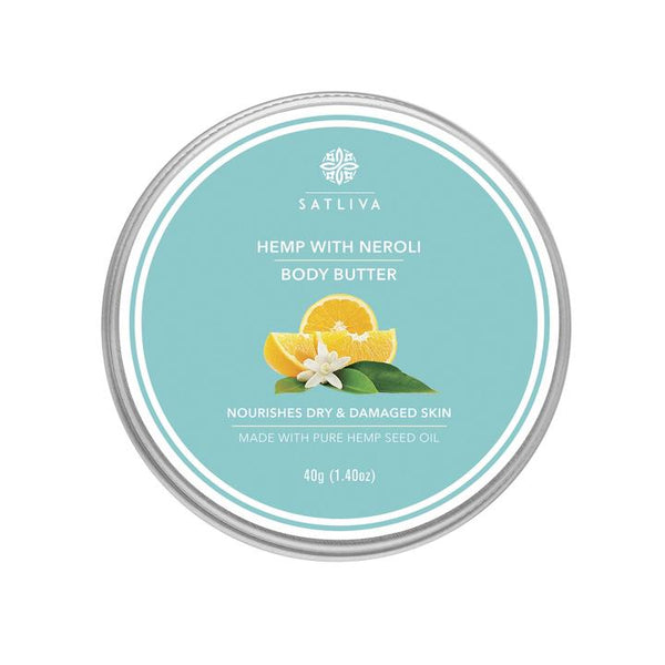 Satliva Hemp with Neroli Body Butter - 40gm - Satliva - hempistani