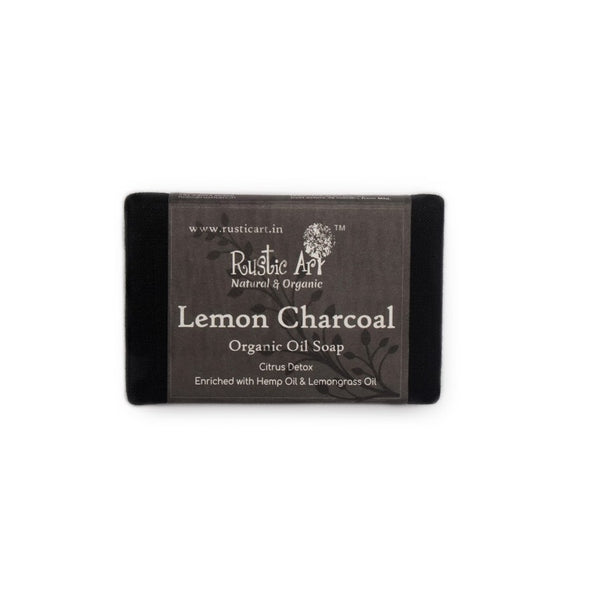 Rustic Art Lemon Charcoal Soap