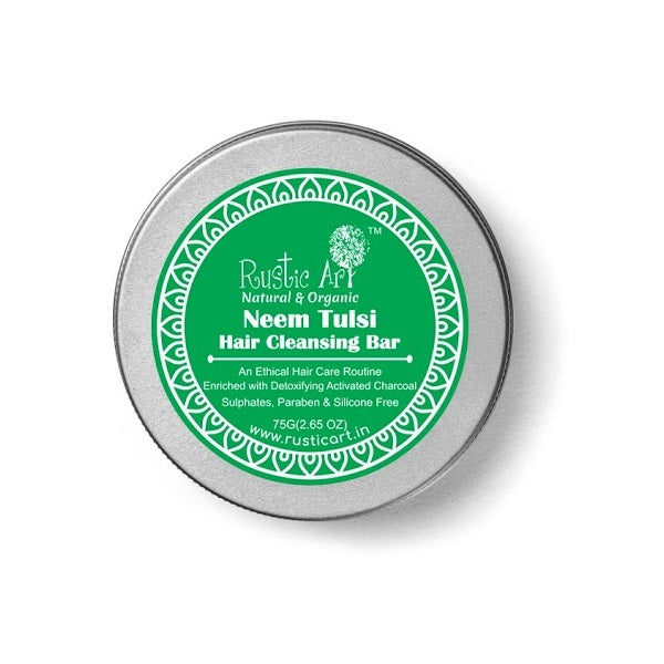 Rustic Art Neem Tulsi Hair Cleansing Bar