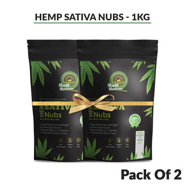 Ayurvedic Sativa Hemp Seeds (Hemp Hearts) Pack of 2 – 500gms Each - Hemp Horizons Pvt. Ltd - hempistani