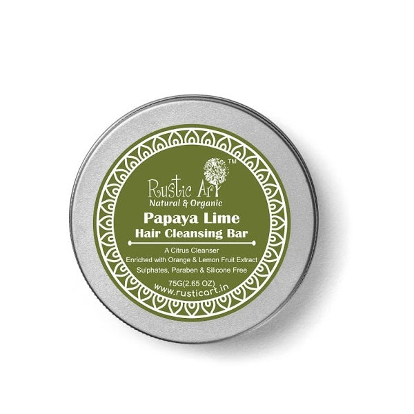 Rustic Art Papaya Lime Hair Cleansing Bar