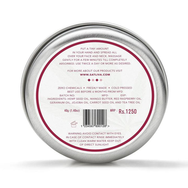 Satliva Red Raspberry Face Cream
