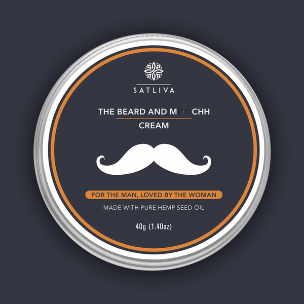 Satliva The Beard and Moochh Cream - 40gm - Satliva - hempistani