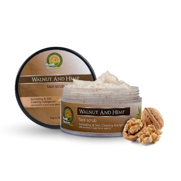 Health Horizon's Walnut and Hemp Face Scrub - Hemp Horizons Pvt. Ltd - hempistani