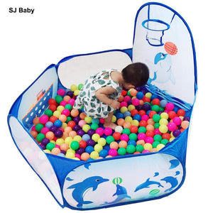 Mini Ball Pit with basketball hoop (Balls sold separately)