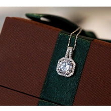 Load image into Gallery viewer, Silver Cubic Pendant Necklace