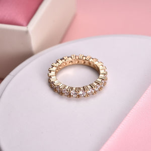 Luxury Silver, Gold, and Rose Gold Women's Ring