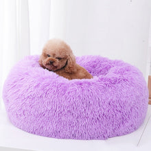 Load image into Gallery viewer, Sleep Luxury Soft Plush Dog Bed Round Shape Sleeping Bag Kennel Cat Puppy Sofa Bed Pet House Winter Warm Beds Cushion Cat Bed
