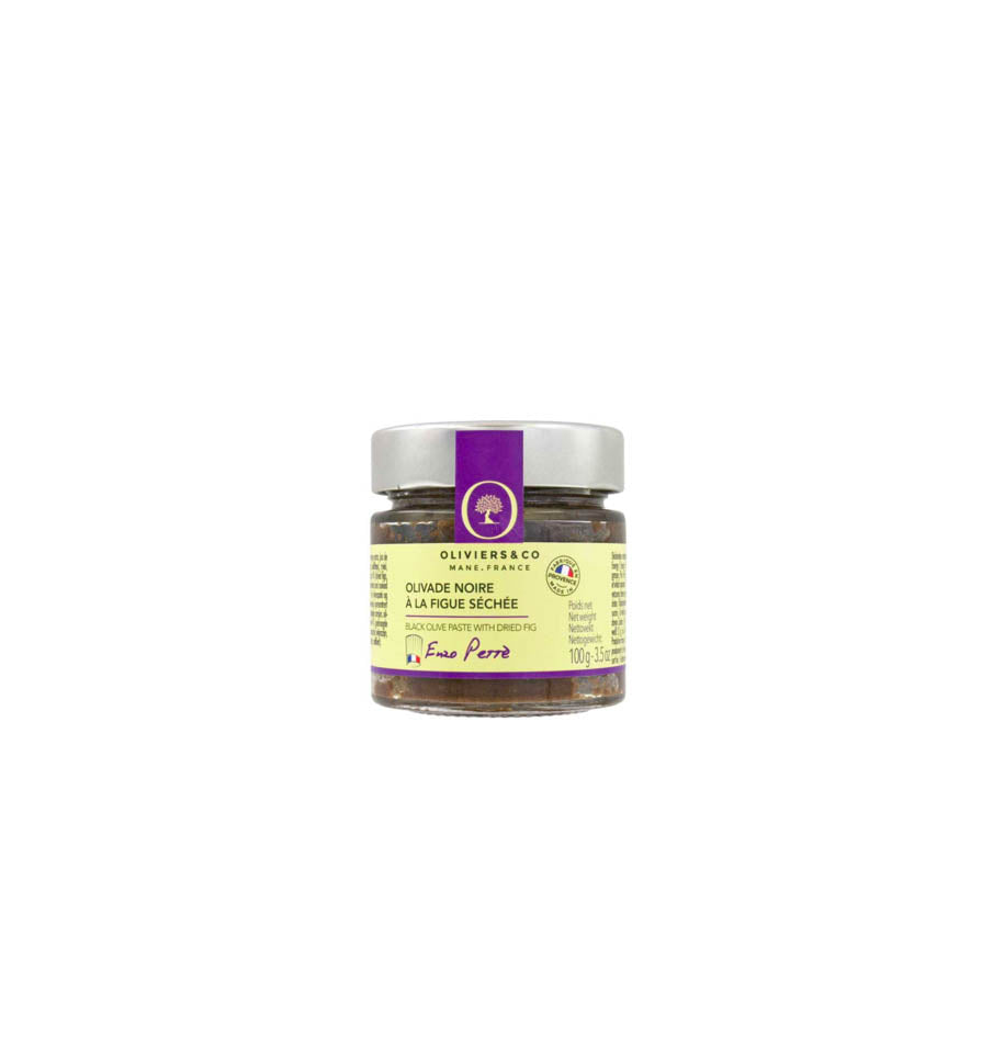 Oliviers & Co. BLACK & DRIED FIG OLIVADES (100g)
