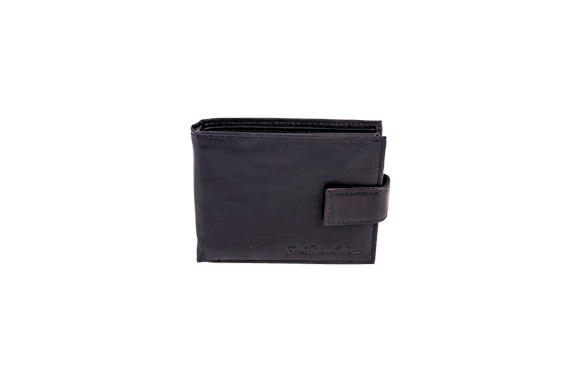 Black Real leather Wallet - Worldbelts Ltd
