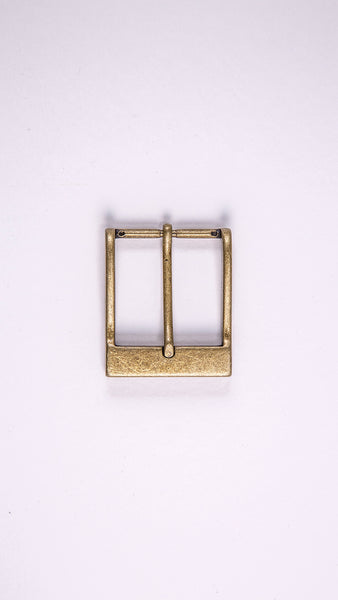 "Gold Rectangular 1.5"" Buckle - Worldbelts Ltd"