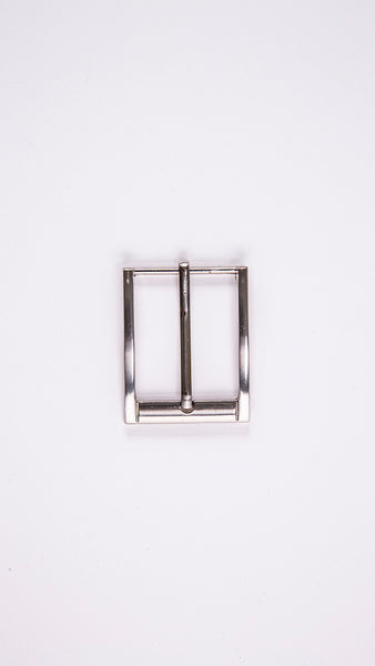 "Chrome Rectangular 1.3"" Buckle - Worldbelts Ltd"